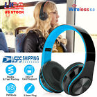 Wireless Stereo Headsets Over-Ear Headphones Foldable Soft Earmuffs   with Mic