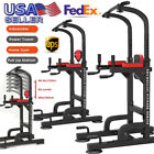 Used, Power Tower Pull Up Gym Training Equipment Workout Dip Station Stretch Machine for sale  Shipping to Nigeria