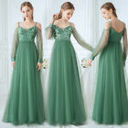 Ever-Pretty Cold Shoulder Applique Long Evening Dress Holiday Ball Prom Gowns US