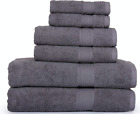 SPRINGFIELD LINEN 6 Piece Towels Set 2 BATH TOWEL, 2 HAND TOWEL AND 2 WASHCLOTHS