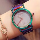 Womens Watches Fashion Colorful Stainless Steel Luxury Watch Ladies Wristwatches image