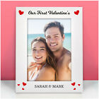 Our First Valentines PERSONALISED Photo Frame Gifts Him Her Girlfriend Boyfriend