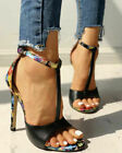 Women High Stiletto Heels Ladies Peep Toe Ankle T-Strap Evening Party Shoes Size
