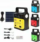 Solar Power Panel Generator LED Light USB Charger System FM Outdoor Garden $51.99 USD on eBay