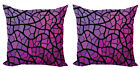 FixedPriceambesonne abstract shape cushion cover set of 2 for couch and bed in 4 sizes
