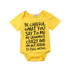 US STOCK  Baby Boy Girl Toddler Grandma Romper Jumpsuit Bodysuit Clothes Outfit