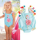 US Newborn Toddler Kids Baby Girl Flamingo Bikini Swimwear Beach Swimsuit Summer