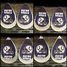 Indianapolis Colts Faux Leather Earrings $10.0 USD on eBay
