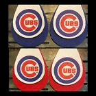 Chicago Cubs Faux Leather Earrings on Ebay