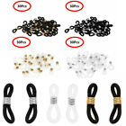 30x Silicone Connector Ends Eyeglass Glasses Spectacles Holder Repair Chain Cord image