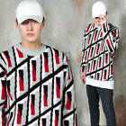 NewStylish Mens Unique patterned knit sweater