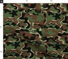 Bovine Design Cows Animal Camouflage Double Fabric Printed by Spoonflower BTY