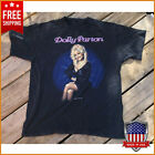 Vintage 90s T-Shirt Dolly Parton Dollywood Country Black Unisex tee Full Size image
