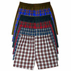Mens Boxer Panties Shorts Comfort Underwear Cotton Plaid Briefs Waistband 3pcs
