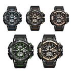 Men's Watch Dual Dispaly Sport Army Shockproof Waterproof Quartz Watches Gift image