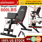Adjustable Sit Up AB Incline Abs Bench Flat Fly Weight Press Gym W/ Fitness Rop for sale  Shipping to Nigeria