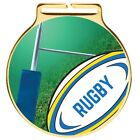 60mm Vision Gold Rugby Medals and Ribbons Medal Ribbon Optional Engraving