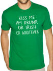Kiss Me I'm Drunk Or Irish Or Whatever Mens Graphic Novelty Sarcasm Funny Shirt