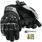 Cortech Accelerator 3 Leather Motorcycle Gloves - Black/Silver - Mens XS-3XL