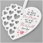 PERSONALISED Birthday Heart Plaque Gifts for Mummy Mum Nanny Granny New Mummy