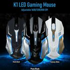 Gaming Mouse LED Breathing Fire 4 Button Silent USB Wired 1600 DPI Laptop PC USA