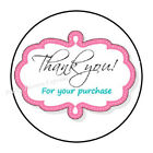 """30 THANK YOU FOR YOUR PURCHASE ORDER ENVELOPE SEALS LABELS STICKERS 1.5"""" ROUND"""