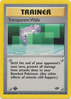 Transparent Walls Trainer Common Pokemon Card 1st Edition Gym Challenge 125/132