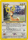 Stantler Common Pokemon Card 1st Edition Neo Genesis 76/111