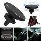 US 360° Qi Wireless Car Charger Magnetic Air Vent Mount Holder For Mobile Phone