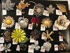 PICK A BROOCH PIN VINTAGE - NOW- SIGNED FLOWERS GARDEN LEAVES MONET COV LC B52