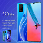 S20 Plus 6.7'' Drop Screen Android 10.0 Smart Mobile Phone 6+128g 2 Sim Card Au