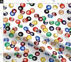 Pool Billiards Balls Game Gaming Games Table Fabric Printed by Spoonflower BTY $28.0 USD on eBay
