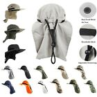 Wide Brim Neck Flap Sun Cap Outdoor Protection Fishing Cap Hiking Hunting hat