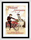 85962 VINTAGE ADVERT TRANSPORT MOTORCYCLE DUTCH INDIAN LAMINATED POSTER CA