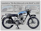 88236 Triumph Bonneville Motorcycle Wall Art Sign Decor LAMINATED POSTER FR $21.39 CAD on eBay
