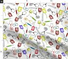 Nurse Registered Student Nursing Medical Theme Fabric Printed by Spoonflower BTY