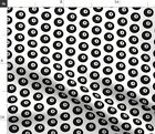 Eight Ball Pool Billiards Black And White Game Fabric Printed by Spoonflower BTY $27.65 CAD on eBay