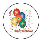 "30 HAPPY BIRTHDAY ENVELOPE SEALS LABELS STICKERS PARTY FAVORS 1.5"" ROUND"