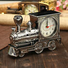 Retro Train Creative Alarm Clock Vintage Simulation Steam Train Quartz Alarm