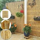 Natural Peeled Reed Bamboo Screening Garden Privacy Screen Fence 4m Wide Panel