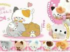 Japan Korokoro Nyanko Soft Fluffy Cat Kitten Plush Cute Lying Stuffed Doll Toy