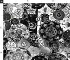 Occult Black And White Astrology Gothic Fabric Printed by Spoonflower BTY