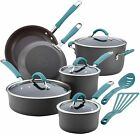 Rachael Ray 87641 Cucina Hard Anodized Nonstick Cookware Pots and Pans Set, 12