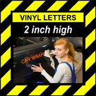 14 Characters 2 inch 50mm high pre-spaced stick on vinyl letters & numbers