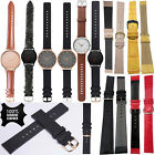 100% Mens Genuine Soft Leather Wrist Band Watch Strap Straps Replacement 20mm UK