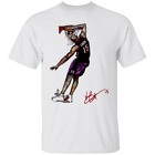 Men's Atlanta Hawks #15 Vince Carter Honey Dip Signature White T-shirt M-3XL