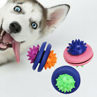 1PC PETS DOG PUPPY UFO LEAKAGE FOOD CONTAINER MOLAR INTERACTIVE CHEW TOY