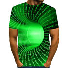 Fashion Men's Funny Graphic Tee 3D Printed T-shirt Casual Short Sleeve Tops Hot image