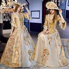 Victorian Medieval Renaissance Costume Dress Marie Antoinette Theater Gown a66