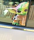 BABY YODA Holographic Sticker STAR WARS MANDALORIAN CAR Phone Laptop DECAL USA $7.99 USD on eBay
